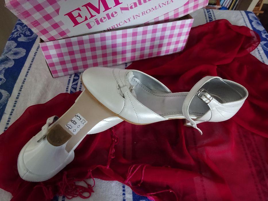 Pantofi mireasă - piele naturală Bucuresti - imagine 3