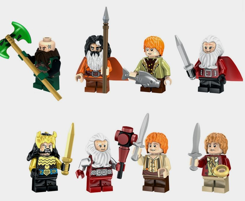 Set 8 Minifigurine noi tip Lego Lord of the Rings pack3