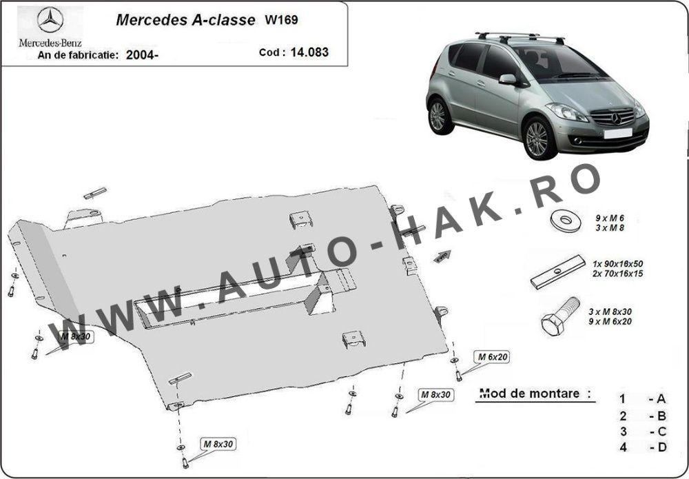 Scut motor metalic Mercedes A-Class W169 2004-2012- otel 2mm