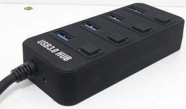 HUB USB 3.0, 4 Porturi, Intrerupator Pt. Fiecare Port