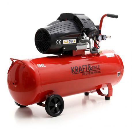 Compresor Aer 100 L cu 2 Pistoane 350 L-KD1480 - kraftprofesional.ro Radauti - imagine 6