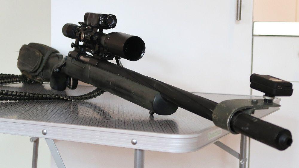 Cea Mai PUTERNICA Pusca Airsoft 6mm FULL METAL + Luneta, Bipod, Pistol