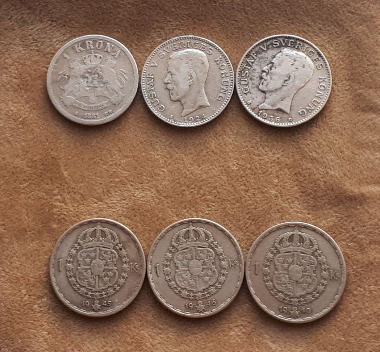 Monede argint Suedia, Norvegia