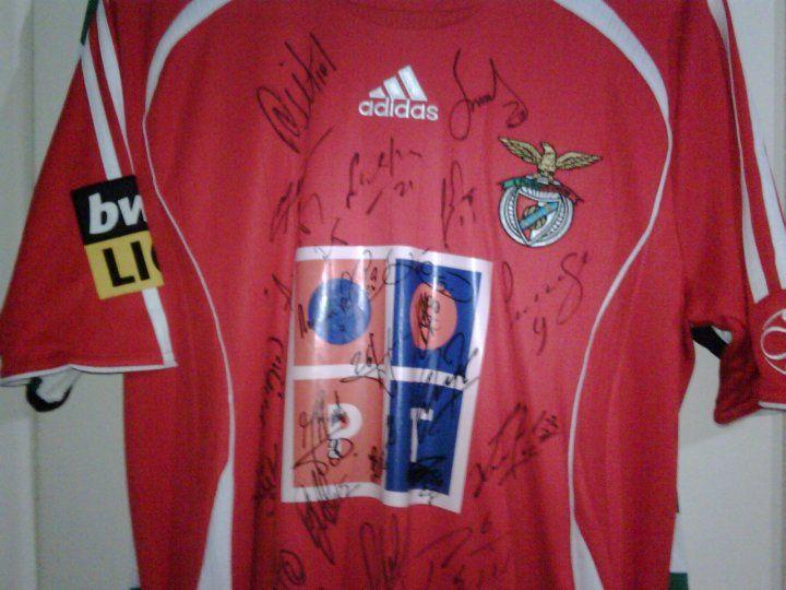 Camisola Benfica usada por Rui Costa no jogo Benfica 2 - 1 Naval! Polana - imagem 2