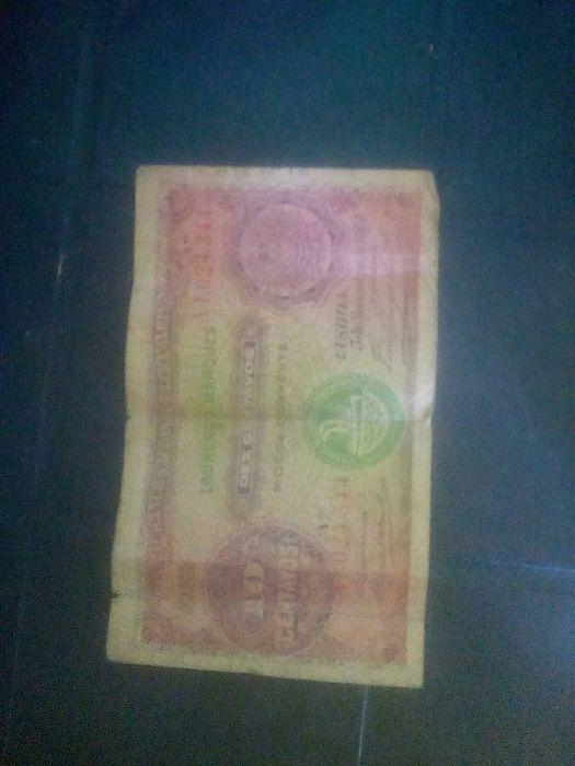 Nota de 10 Centavos de 1914 Banco nacional Ultramarino