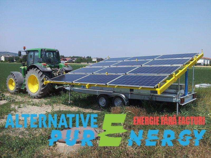 Remorca Solara - Generator Fotovoltaic Mobil Irigatii Agricultura