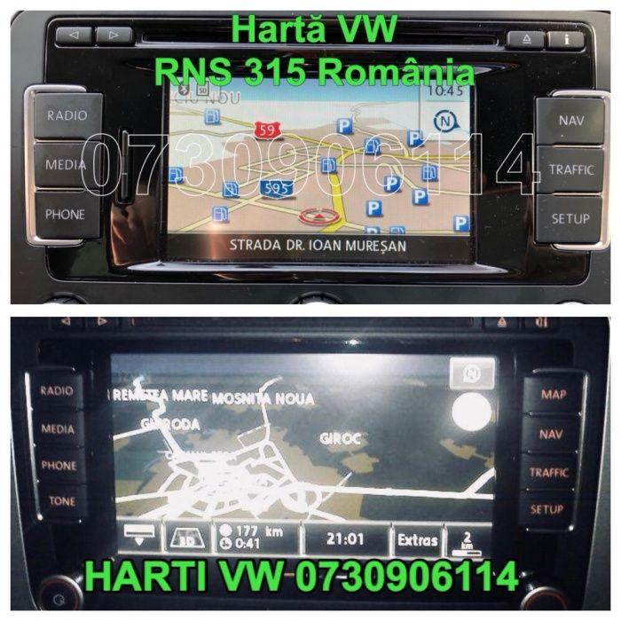 VOLKSWAGEN RNS510 RNS315 310 Actualizare Navigatie Harti Romania 2018