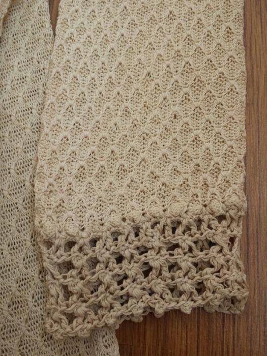 Colectie - costum vintage dama crosetat fir macrame bej