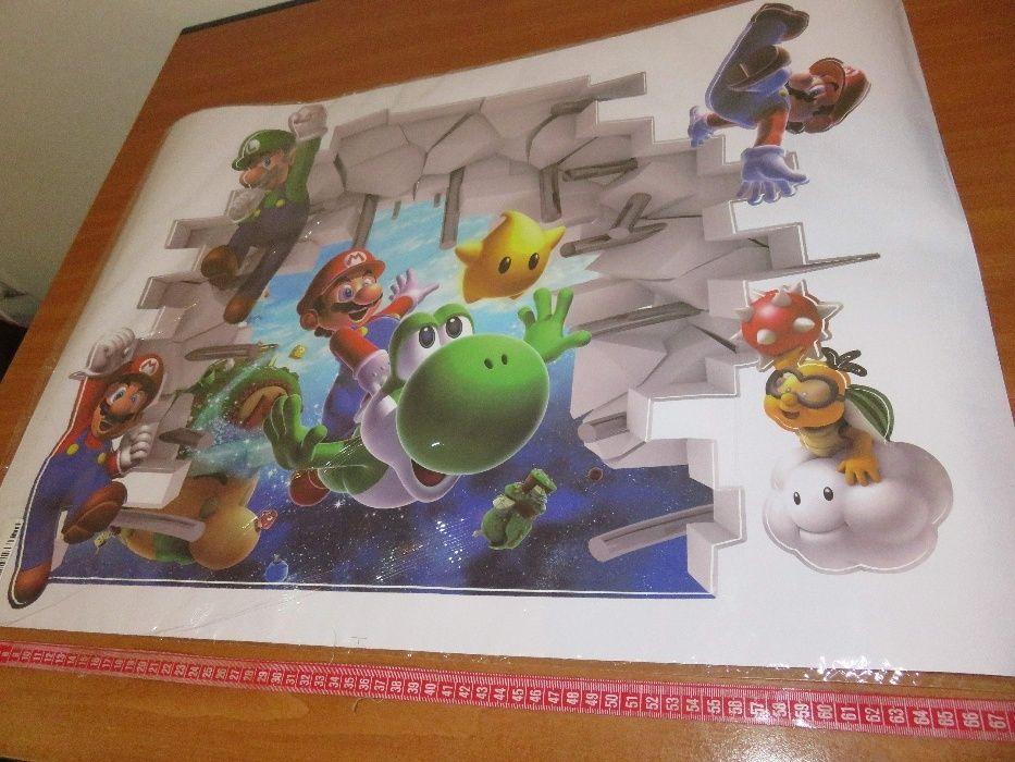 Sticker de perete 65x48cm Super Mario World 2