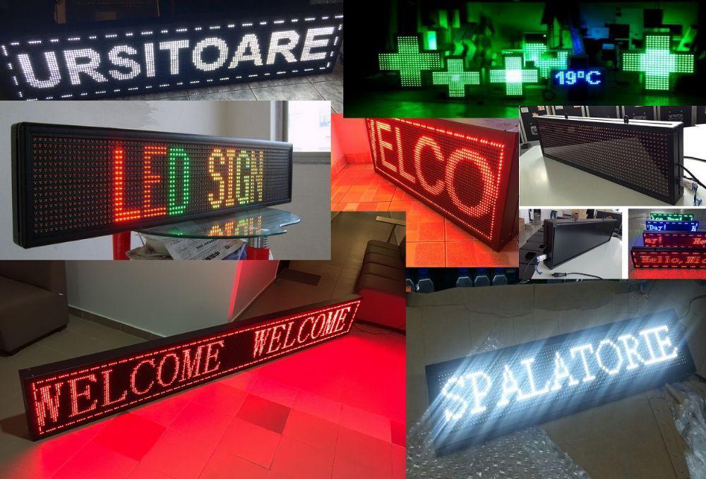 Reclama Led Luminoasa Programabila Exterior DEPOZIT STOC - Rosu Alb