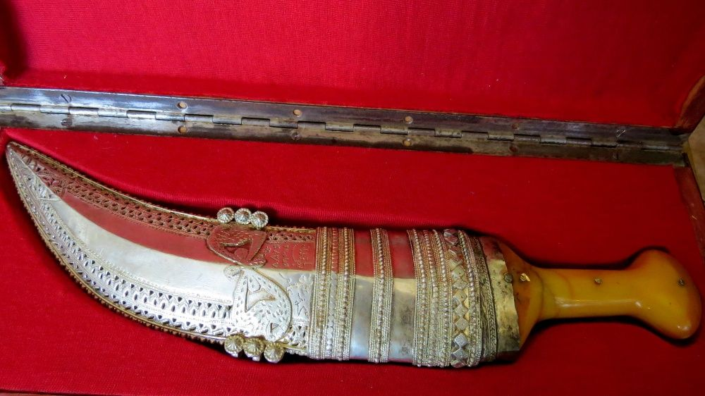 Pumnal, cuțit, hanger argint islamic foarte vechi, aștept oferte..