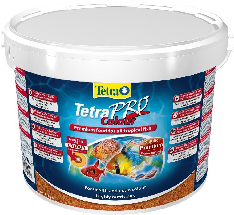 "Корм для рыб TetraPro Colour 10л в ""Живом Уголке"" в Таугуле"