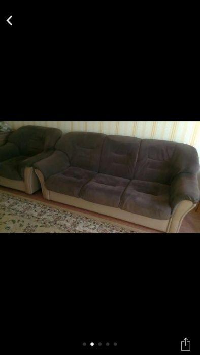 Продам белорусский диван+2кресла, обмен на мясо
