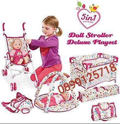 Кукла-бебе с кошара,активна гимнастика,количка,кенгуру и чанта