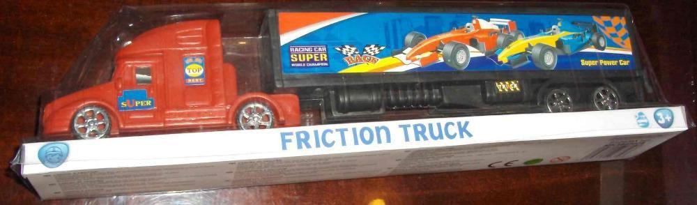 Jucarie - Camion pt transportarea masinilor F1, nou,in cutia originala