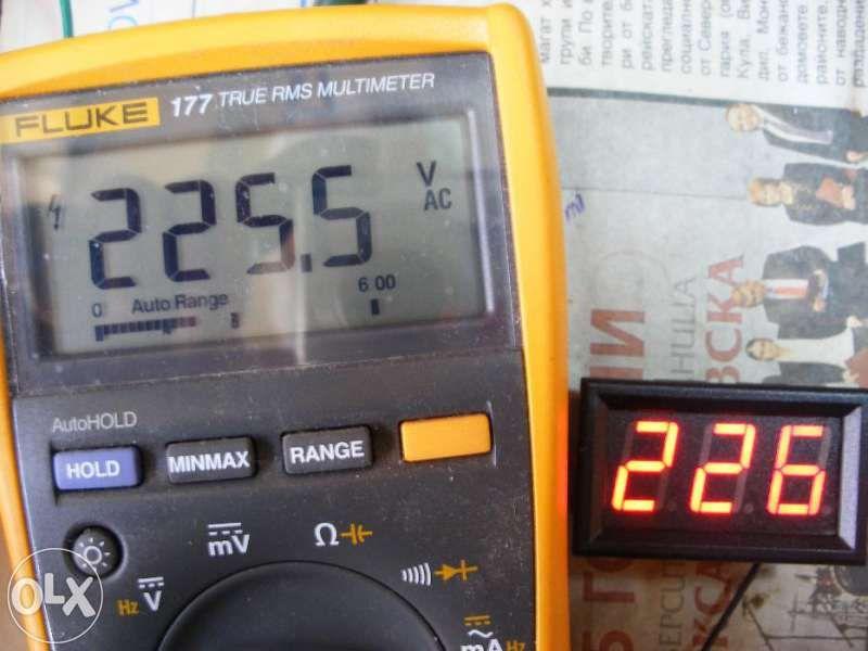 Волтметър променливо напрежение AC 60 - 300v панелен цифров дигитален