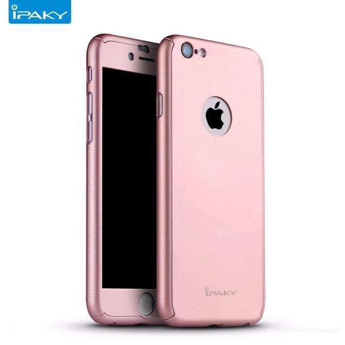 Husa 360º iPaky pentru iPhone 6/6SPLUS cu folie de protectie-Rose Gold