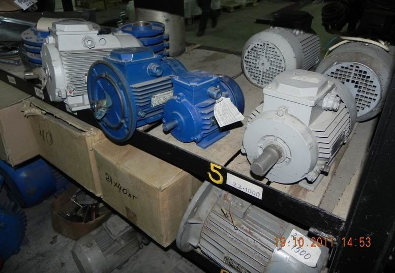 Ел. двигател, електродвигатели 1.5 кВт. 950об./мин.