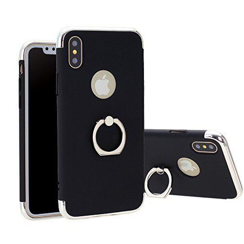 Husa Elegance Luxury 3in1 cu inel pentru Apple iPhone X Black