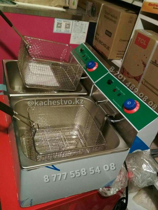 Профессиональный Чикен Аппарат, фритюрница для ЧИКЕНА 12+12 на 24 литр