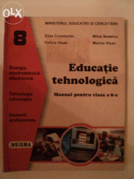 Manual educatie tehnologica cls aVIII-a