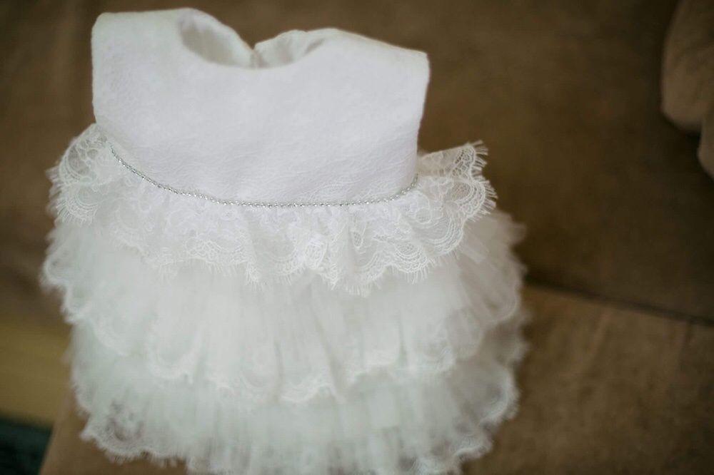 Rochița alba nunta/botez/eveniment fetița 3 luni