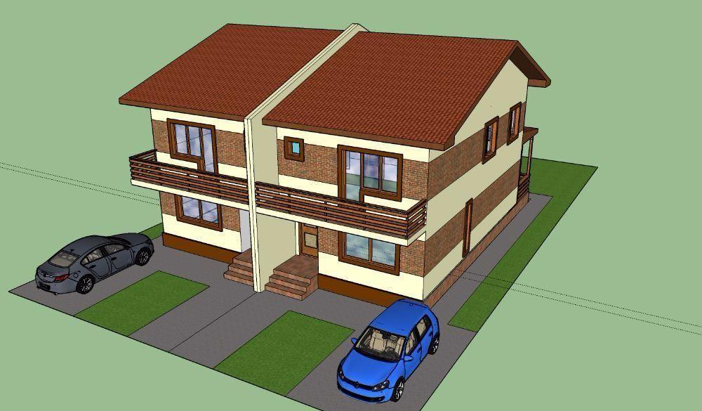 casa vila cu terasa si subsol Lumina langa Ovidiu duplex din caramida