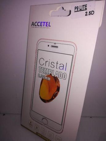 pelicula de vidro e capa antichoque para Huawei P9 lite
