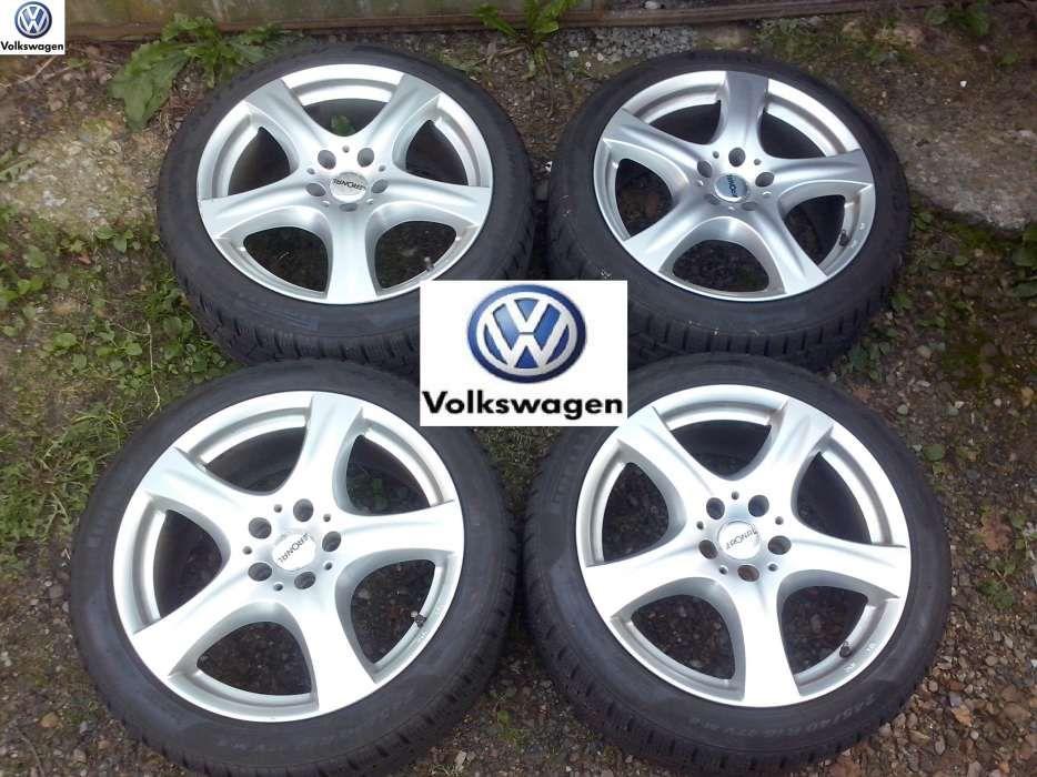 Jante aliaj VW Passat pe 18 + cauciucuri de iarna