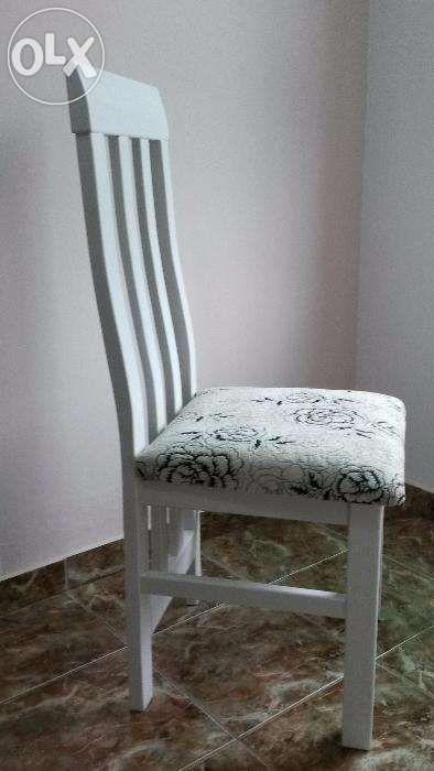Scaun lemn masiv model 4 alb