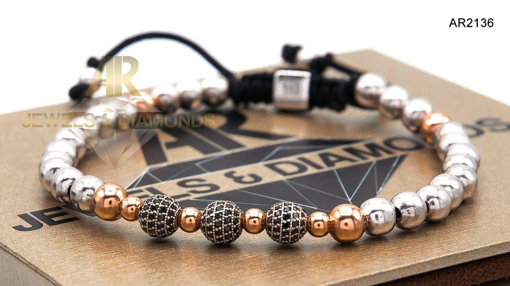 Bratara Aur cu Diamante Negre model nou deosebit ARJEWELS(AR2136)