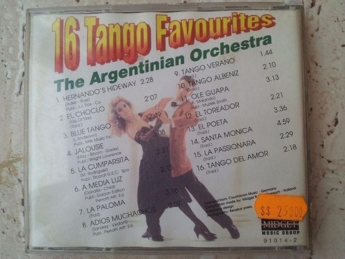 Vand Cd original Tango Favourites