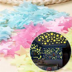 50 Estrelas Fluorescentes (brilham no escuro) - decorativas Malhangalene - imagem 3