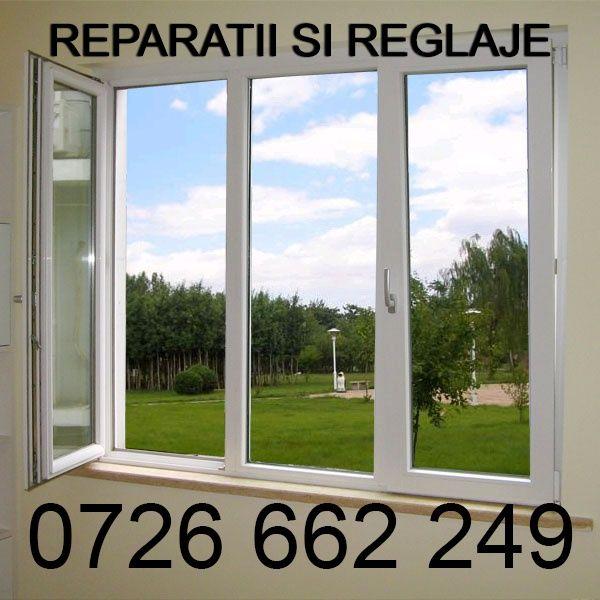 Reparatii termopan, reglaje ferestre si uşi ,tamplarie PVC,plase