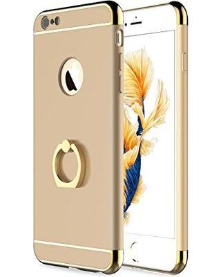 Husa Elegance Luxury 3 in 1 cu inel pentru Apple iPhone 8 Gold