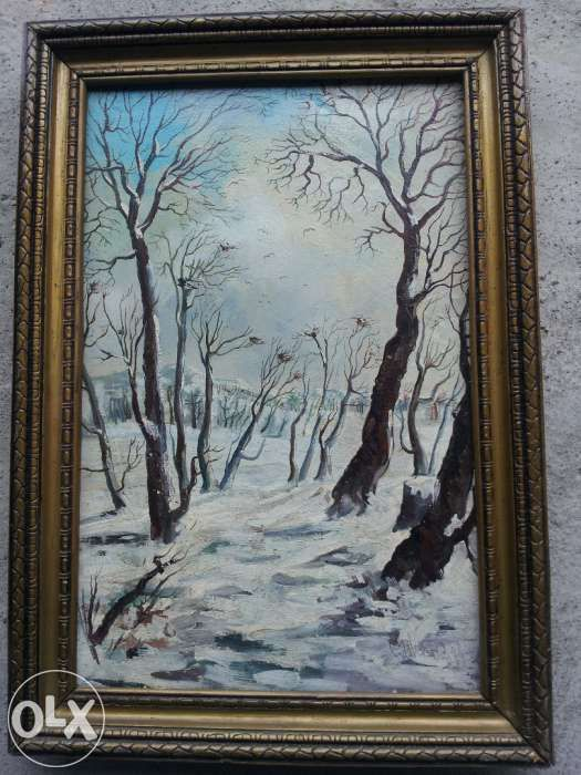 tablou peisaj iarna - CONSTANTIN GALCEAVA