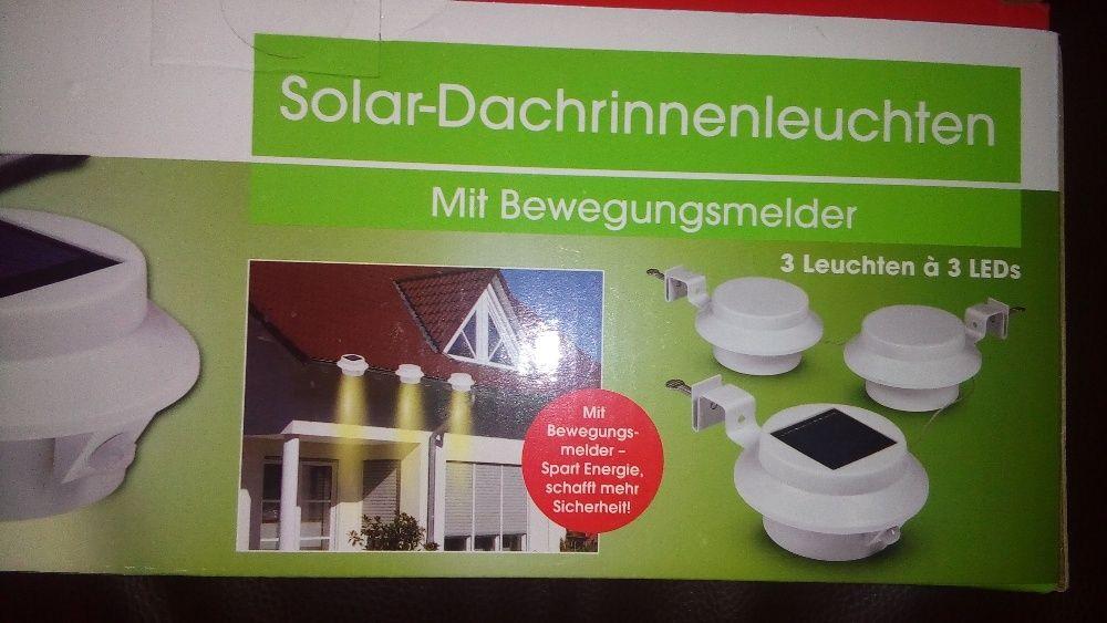 К-т 3бр. Соларни LED лампи за улуци с Li-ion батерия - нови!