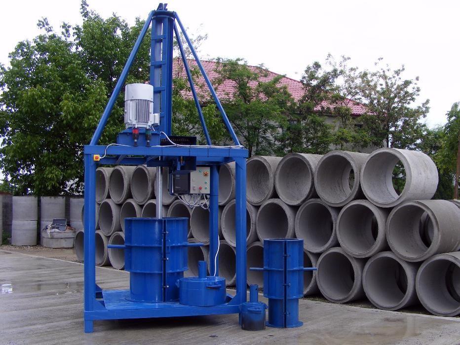 Masina pentru fabricat tuburi/ camine din beton