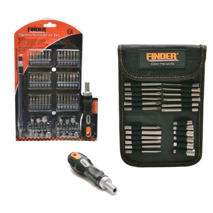Комплект инструменти FINDER 26/58 части с накрайници за отвертки