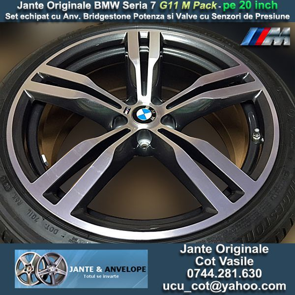 Jante Originale BMW M Pack Seria 7 2016 G11 pe 20 inch cu Anvelope