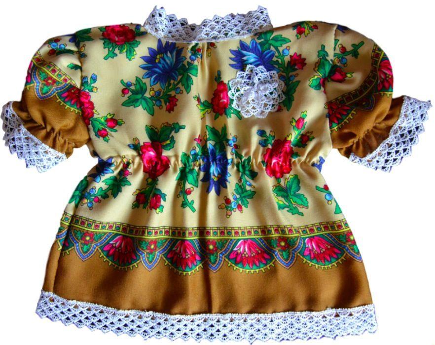 Rochie fetite 0-18 luni cu motive traditionale maramuresene