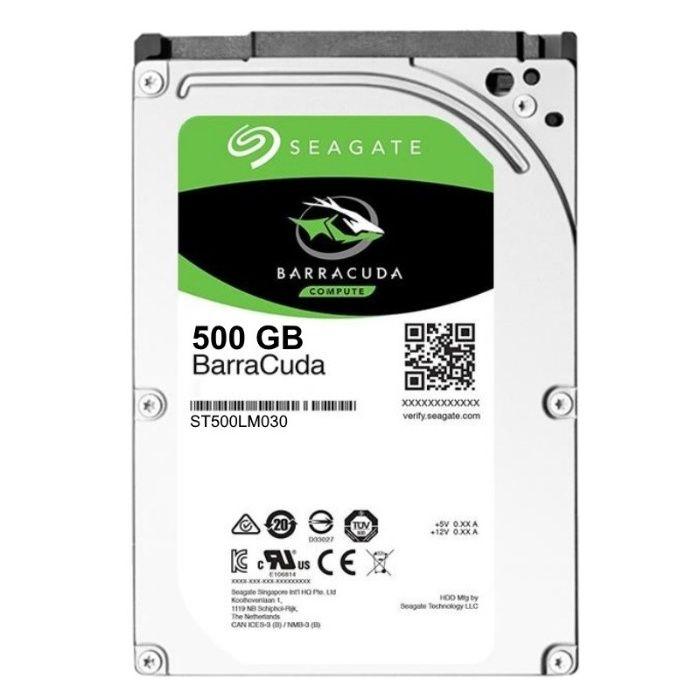 HDD 500GB Laptop Seagate BarraCuda 5400rpm SATA 3 128Mb buffer nou