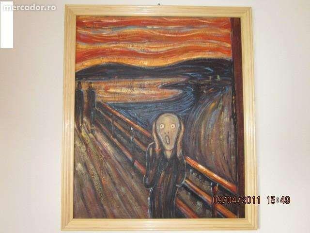"""Pictura reproducere in ulei """"Strigatul"""" """"The scream"""" Edgar Munch"""