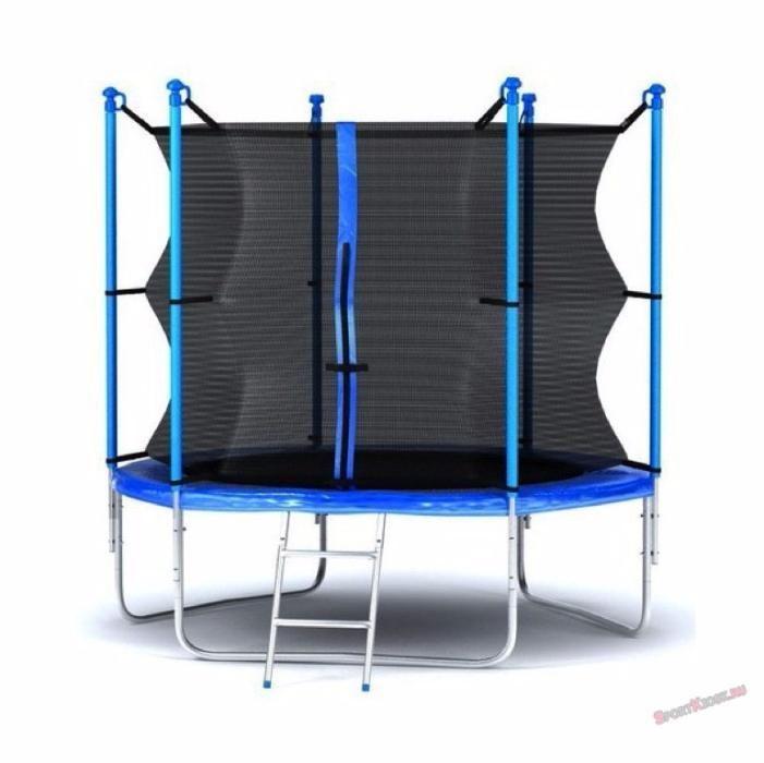 Батут с защитной сеткой, синий, 220 х 244 см