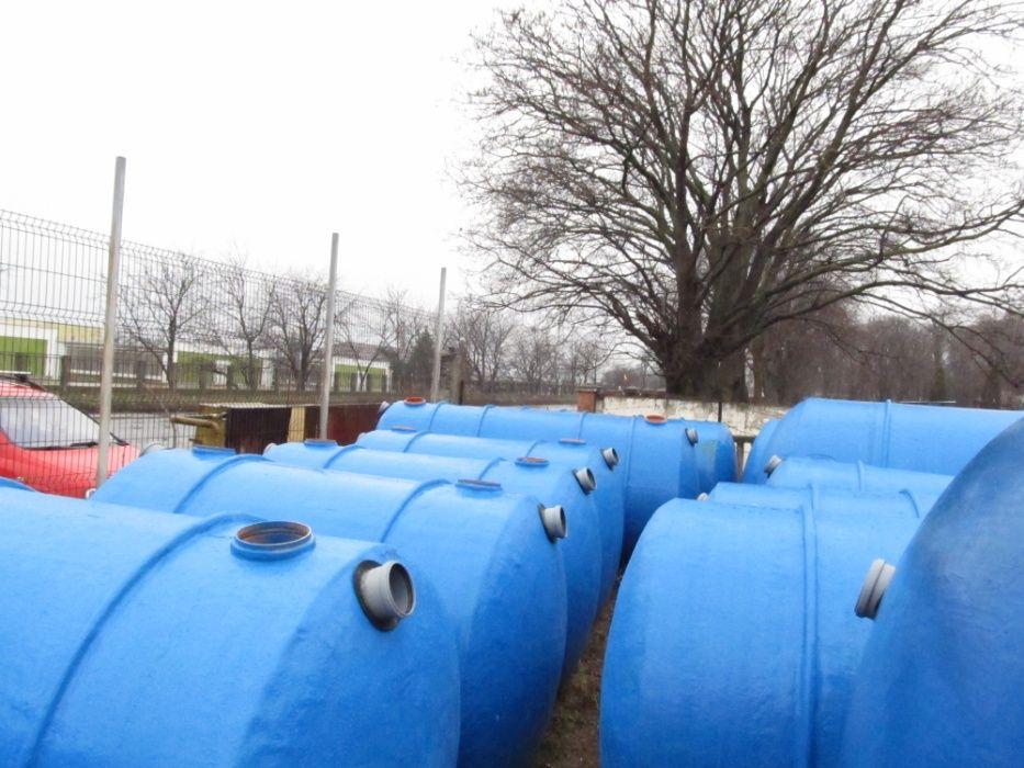 Fosa septica , Bazin apa, Rezervoare fibra sticla