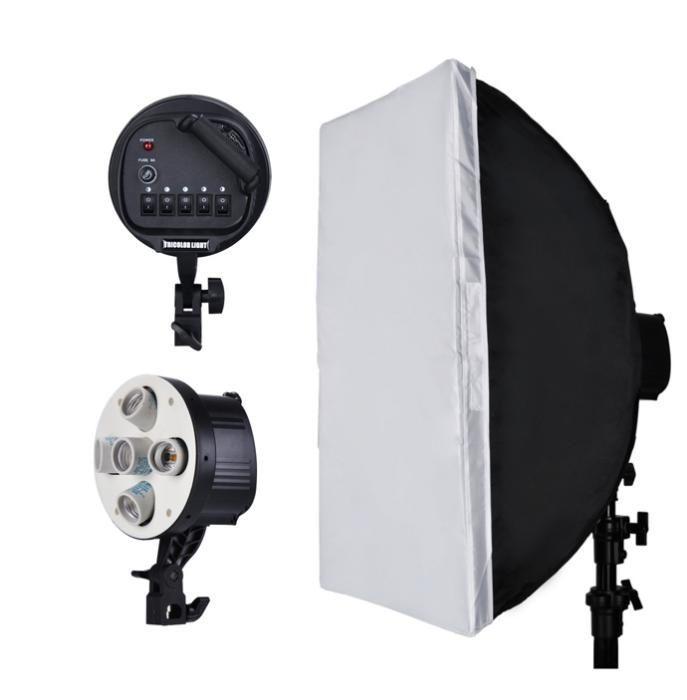 Studio 5 Head Softbox Continuous Diffuser - Kit lampa cu 5 socluri E27