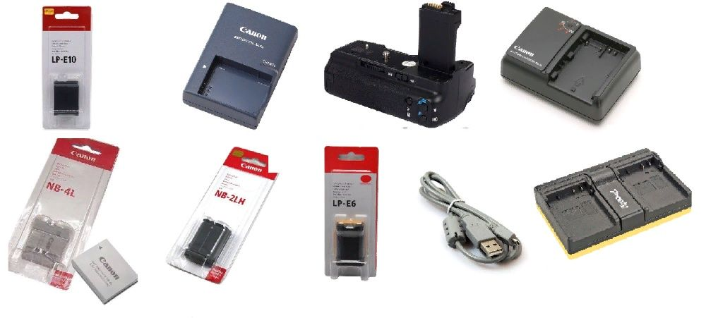 Аккумулятор для Canon LP-E5 LP-E6 LP-E8 LP-E10 Батарейный блок кабель