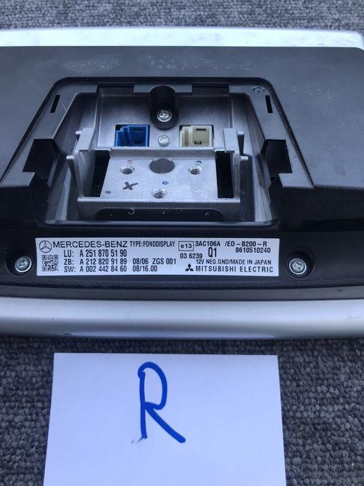 Ecran display tetiera Mercedes R class w251