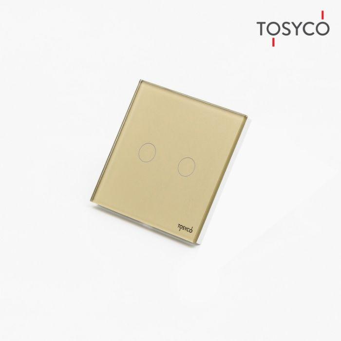 Tosyco.ro Întrerupător cap scara / cruce dublu wireless cu touch