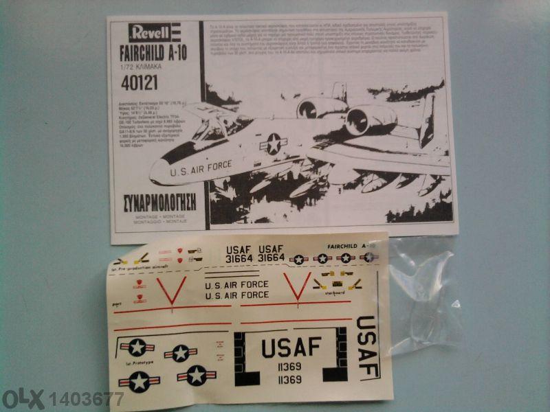 Модел на самолет a-10 thunderbolt ll-revell 1/72